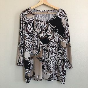 Chicos 3/4 Sleeve Blouse